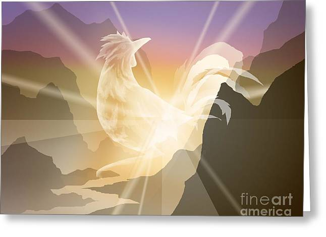 Harbinger Of Light Greeting Card by Alice Chen