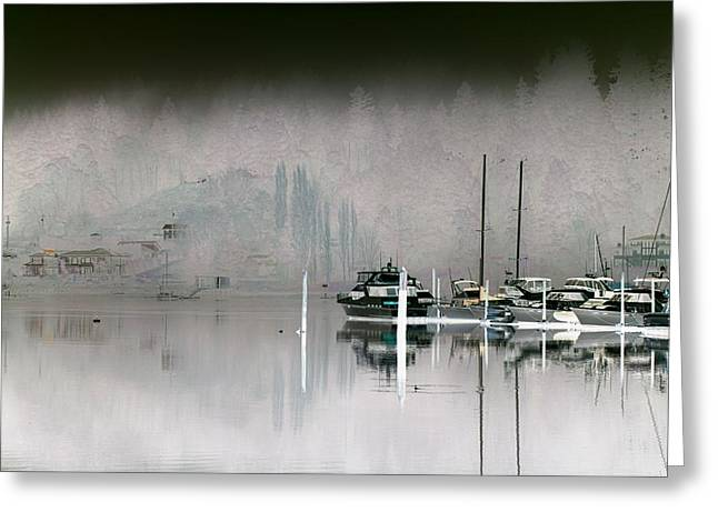 Harbor And Boats Greeting Card