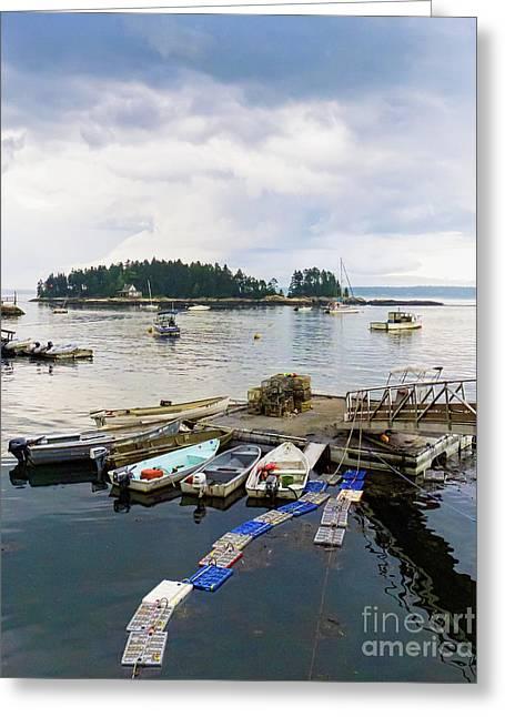 Harbor At Georgetown Five Islands, Georgetown, Maine #60550 Greeting Card