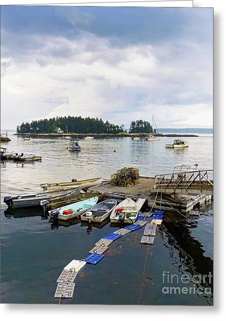 Harbor At Georgetown Five Islands, Georgetown, Maine #60550 Greeting Card