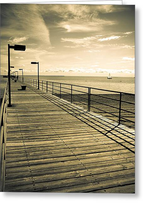 Harbor Beach Michigan Boardwalk Greeting Card