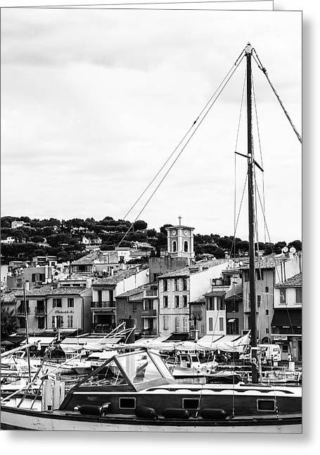 Harbor Boats In The South Of France Greeting Card by Georgia Fowler
