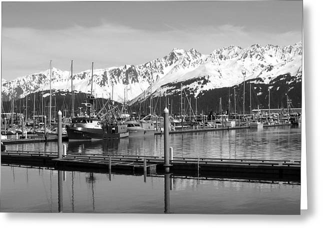 Harbor Boats Greeting Card by Ty Nichols