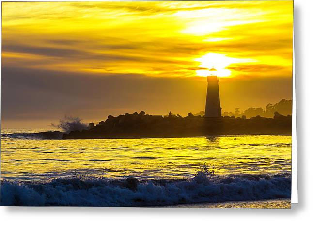 Harbor Lighthouse Greeting Card