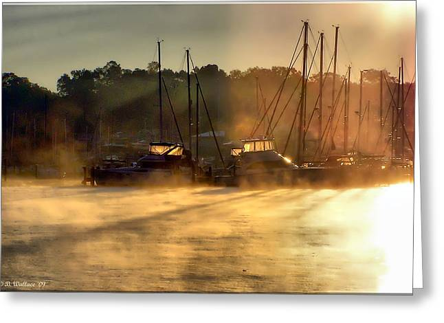 Greeting Card featuring the photograph Harbor Mist by Brian Wallace