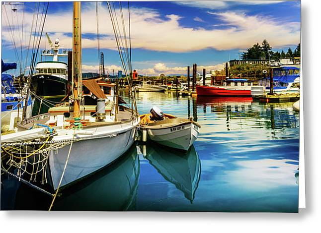 Harbor On Guemes Channel Greeting Card