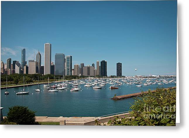 Harbor Parking In Chicago Greeting Card