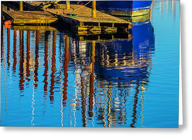 Harbor Reflections Greeting Card by Garry Gay