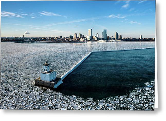 Greeting Card featuring the photograph Harbor Sentinel by Randy Scherkenbach