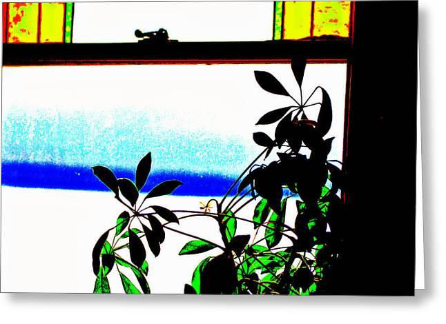 Harbor Side Window Greeting Card
