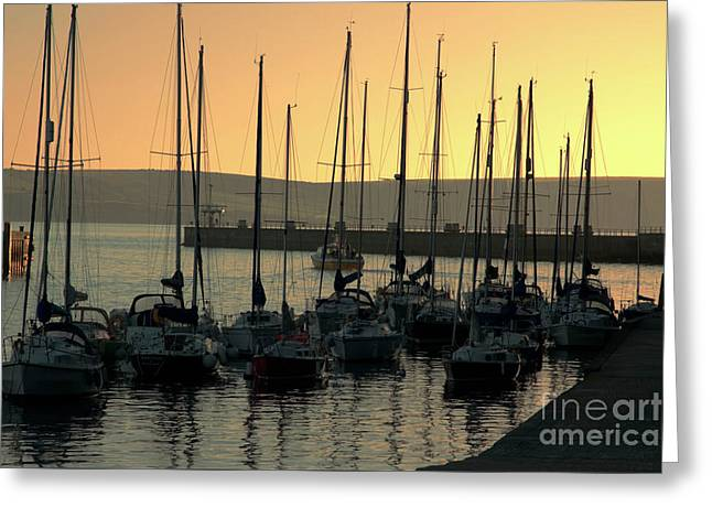 Harbor Sunrise Greeting Card