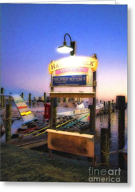 Harbor Walk At Destin Florida # 5 Greeting Card by Mel Steinhauer