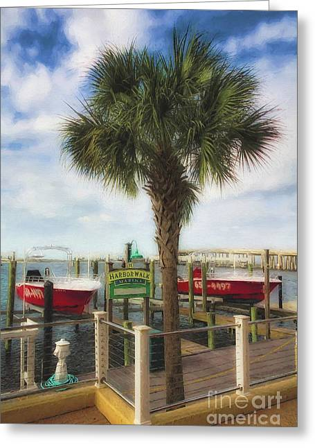 Harbor Walk At Destin Florida # 2 Greeting Card by Mel Steinhauer