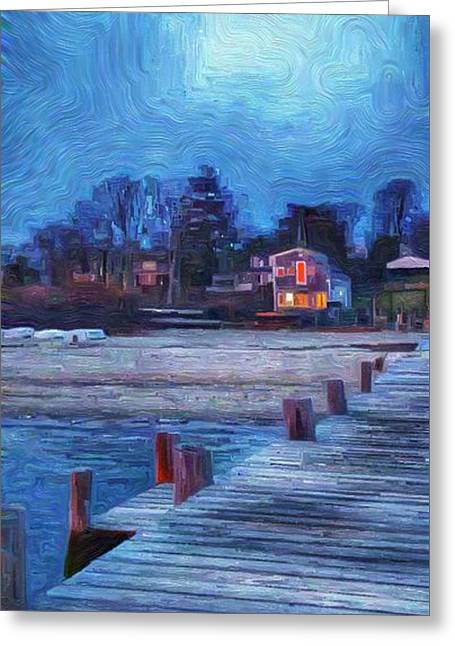 Harbormasters Office Owen Park Greeting Card by Jeffrey Canha