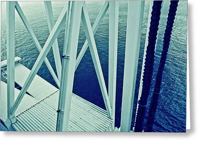 Harbour Grids Greeting Card