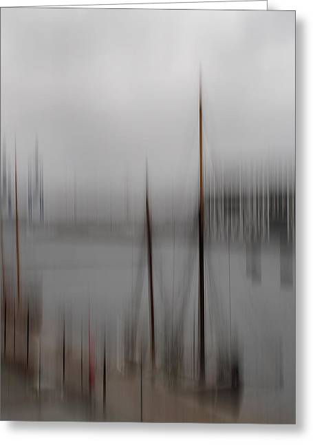 Harbour In The Fog Greeting Card by Inge Riis McDonald