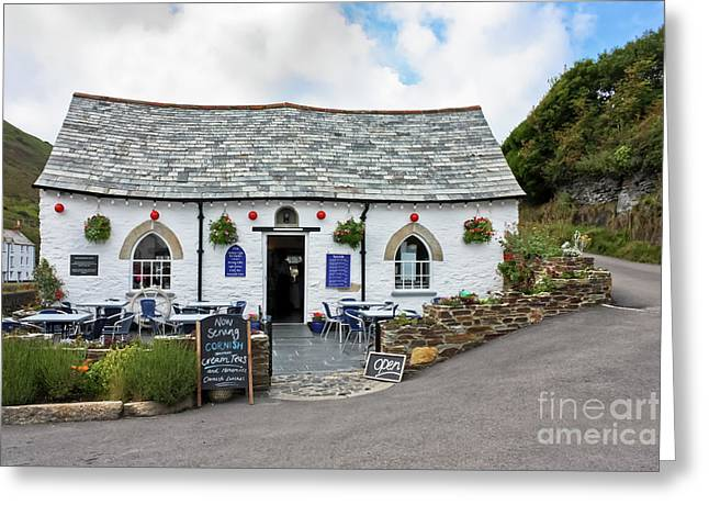 Harbour Light, Boscastle Greeting Card by Terri Waters