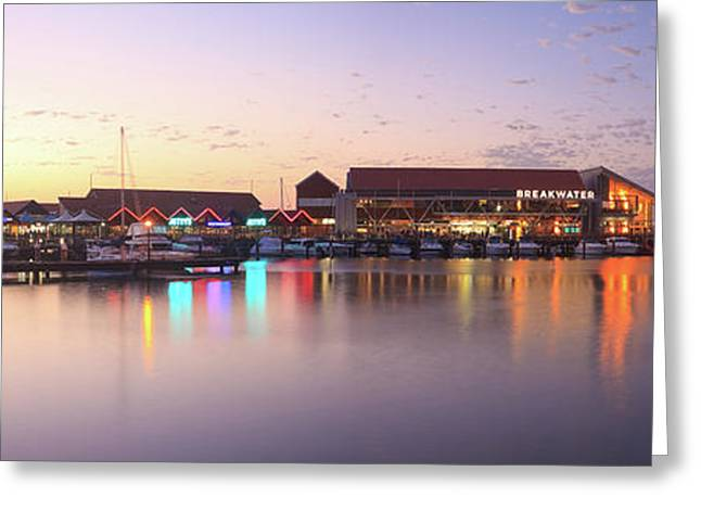 Harbour Lights, Hillarys Boat Harbour Greeting Card