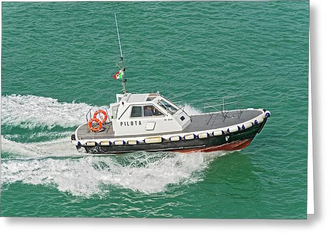 Harbour Pilot Boat Greeting Card