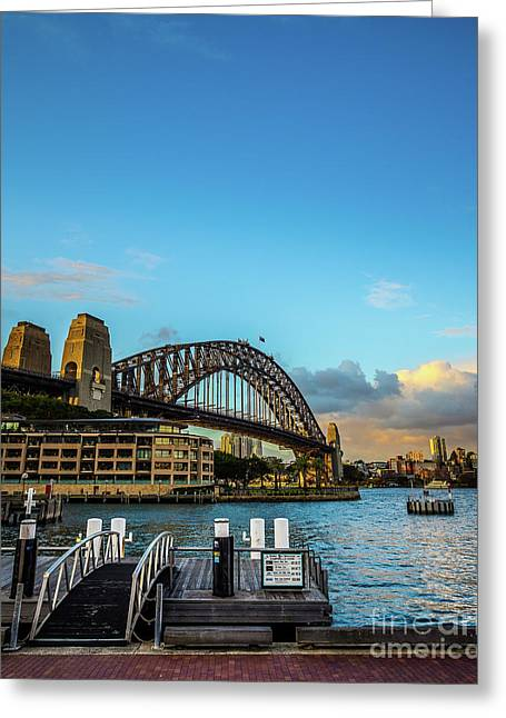 Greeting Card featuring the photograph Harbour Sky by Perry Webster