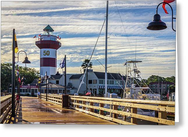 Greeting Card featuring the photograph Harbour Town Lighthouse by Randy Bayne