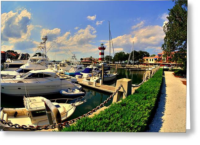 Harbour Town Marina Sea Pines Resort Hilton Head Sc Greeting Card