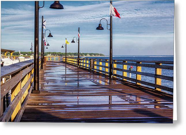 Greeting Card featuring the photograph Harbour Town Pier by Randy Bayne