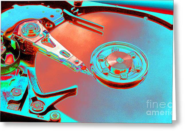 Hard Disk Greeting Card by Tony Craddock