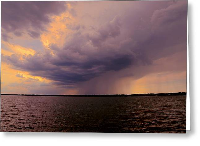 Hard Rain's Gonna Fall Greeting Card by Lowlight Images