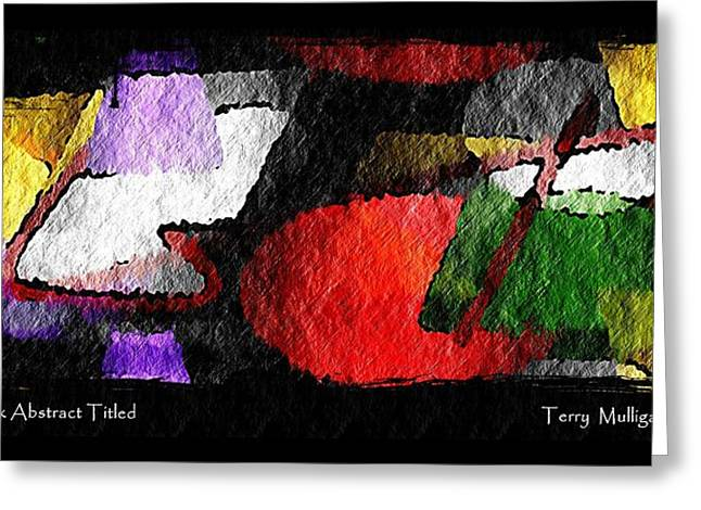 Hard Rock Abstract Titled Greeting Card by Terry Mulligan