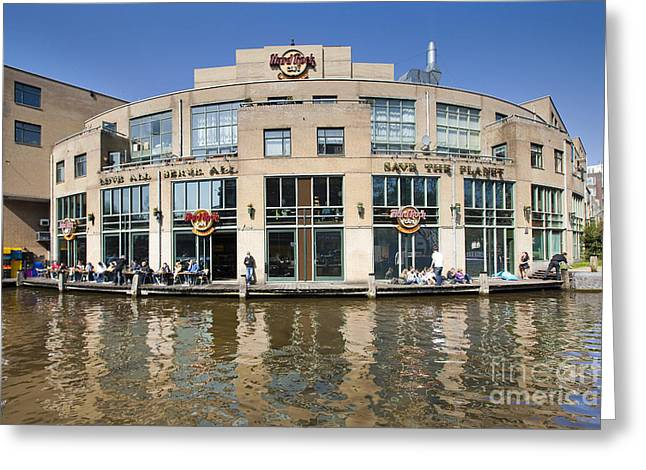 Hard Rock Cafe In Amsterdam Greeting Card by Andre Goncalves