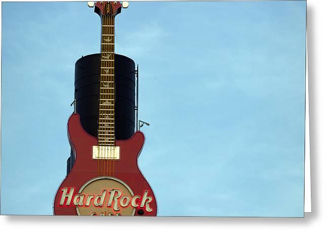 Hard Rock Cafe Greeting Card by Joseph Skompski