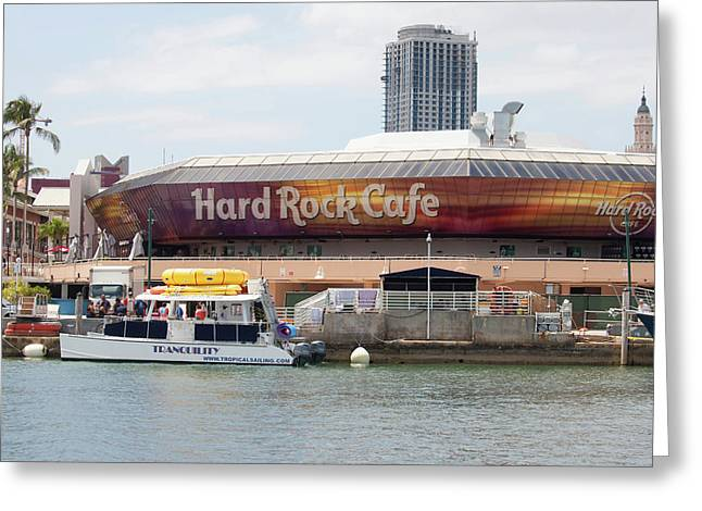 Hard Rock Cafe - Miami Greeting Card
