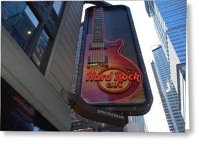 Hard Rock Cafe N Y C Greeting Card by Rob Hans