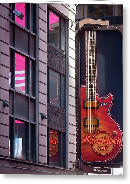 Hard Rock Cafe New York City Greeting Card by Art Block Collections