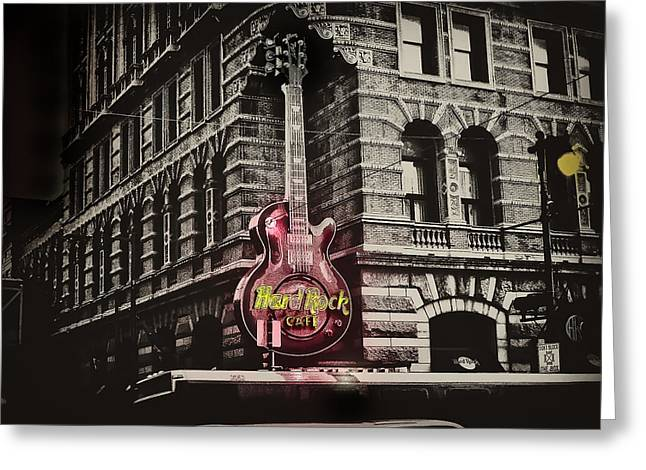 Hard Rock Philly Greeting Card by Bill Cannon