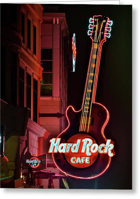 Hard Rock Red Greeting Card by Frozen in Time Fine Art Photography