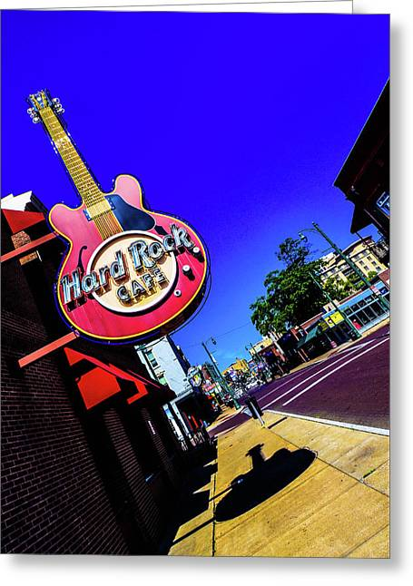 Hard Rockin On Beale Greeting Card