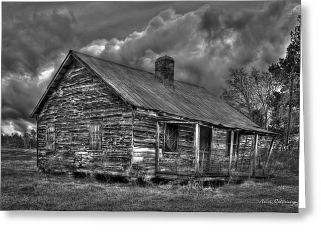 Hard Times Black And White Art Greeting Card by Reid Callaway