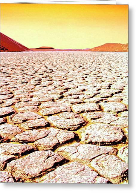Dry Lake Mixed Media Greeting Cards - Hard Times Greeting Card by Dominic Piperata