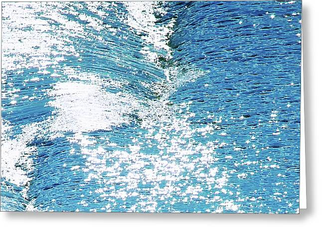 Hard Water Abstract Greeting Card