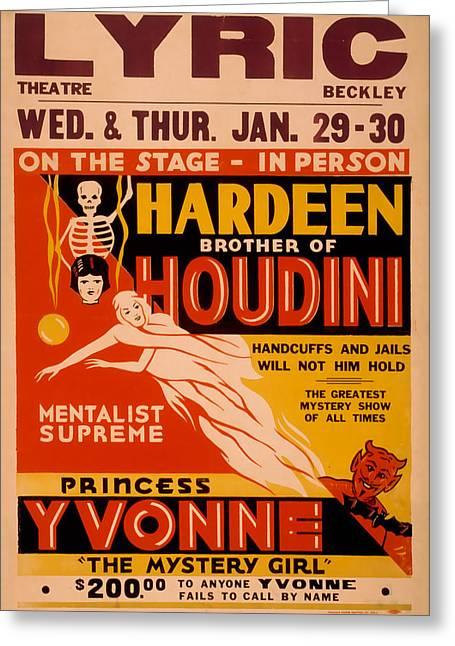 Hardeen Brother Of Houdini Greeting Card