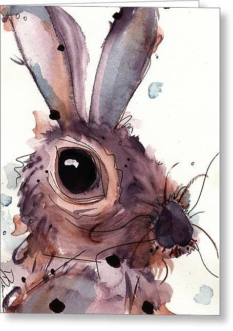 Hare Greeting Card by Dawn Derman
