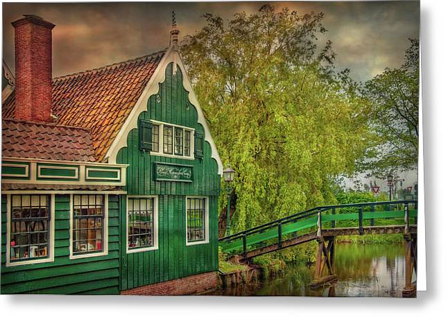 Greeting Card featuring the photograph Haremakerij At The Brook by Hanny Heim