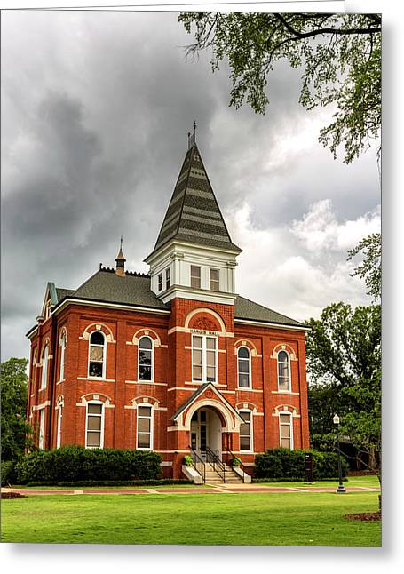 Hargis Hall - Auburn University Greeting Card by Stephen Stookey