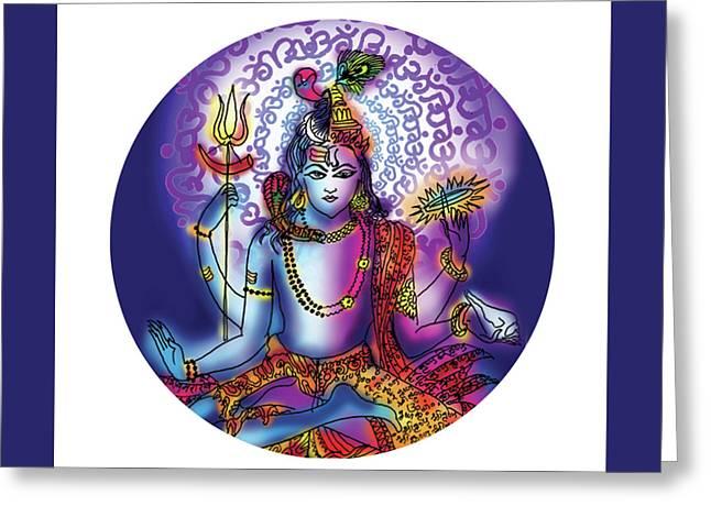 Hari Hara Krishna Vishnu Greeting Card