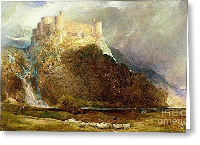 Harlech Castle Greeting Card by MotionAge Designs