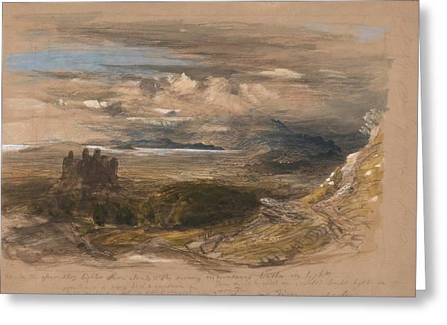 Harlech Castle Greeting Card by Samuel Palmer