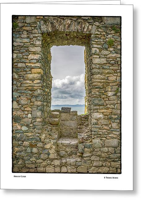 Harlech Cloud Greeting Card by R Thomas Berner
