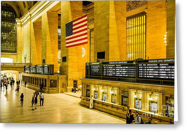 Greeting Card featuring the photograph Grand Central Pride by M G Whittingham